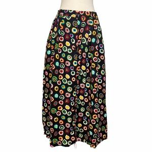 Vintage SK & Company Floral Button Front Skirt